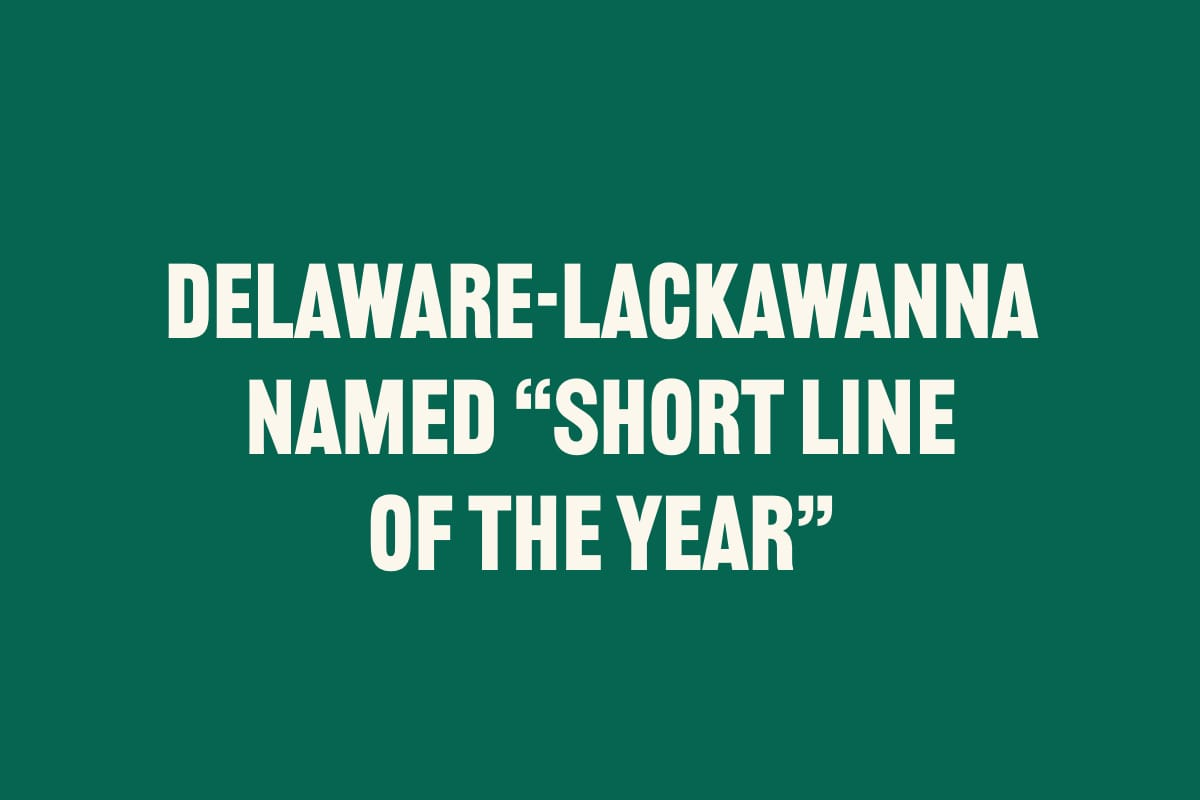 "DELAWARE-LACKAWANNA NAMED ""SHORT LINE OF THE YEAR"""