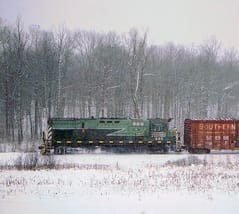 Train in winter