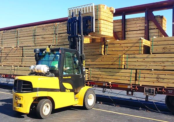 Loading Transload Shipment Genesee Valley Transportation