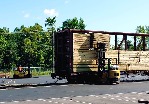 Transload Shipment Unloaded Genesee Valley Transportation